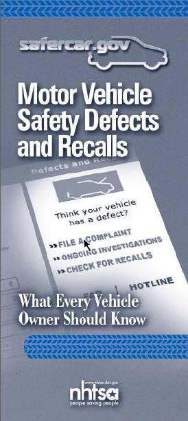 Vin Number Of Vehicle >> Motor Vehicle Defects and Safety Recalls: What Every Vehicle Owner Should Know | Safercar.gov ...